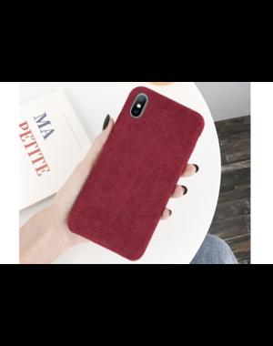 Ribstof telefoonhoesje iPhone 7 / 8 Plus | Rood