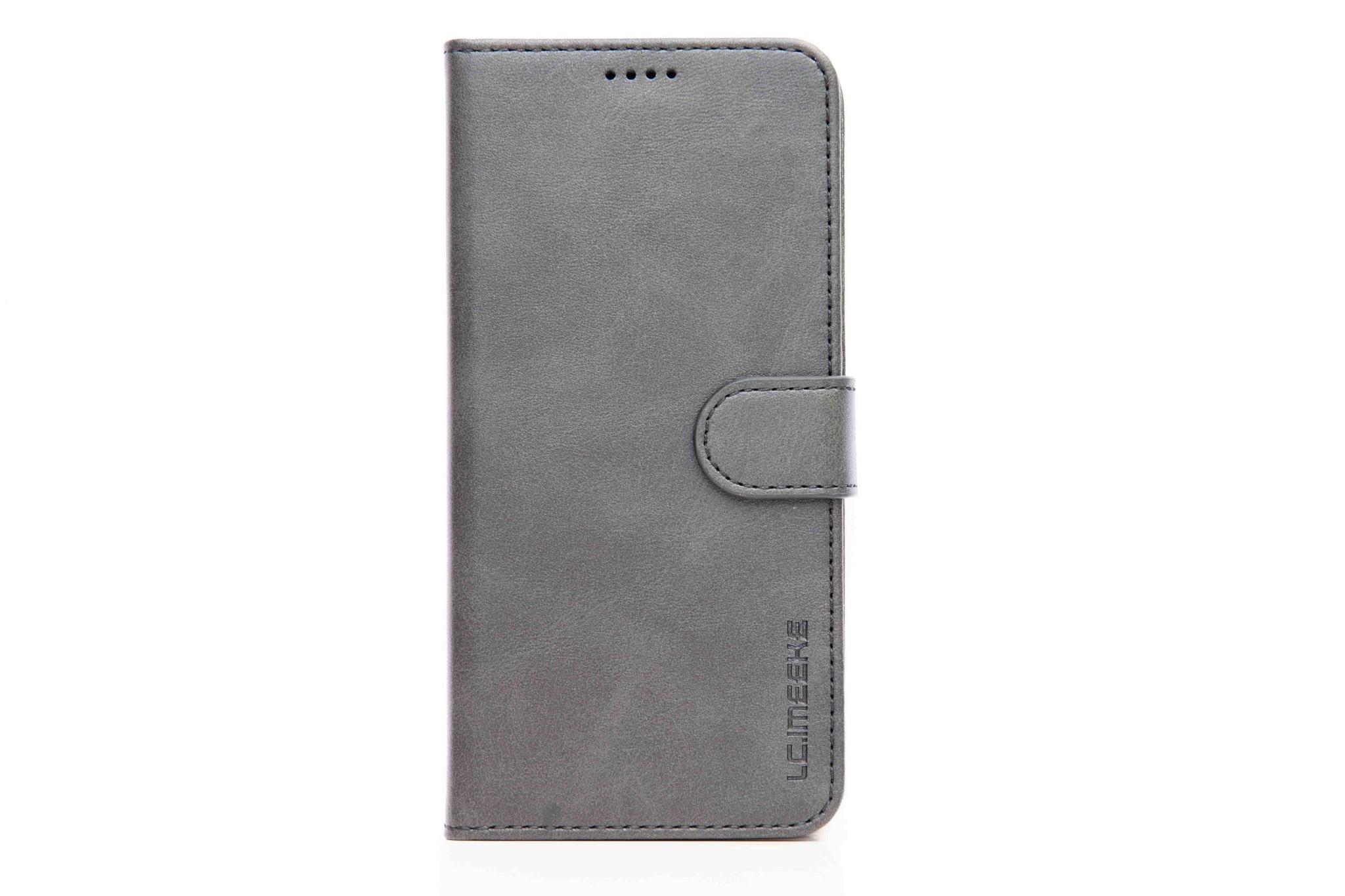 Smartphonehoesje iPhone X / XS | Portemonnee | Grijs