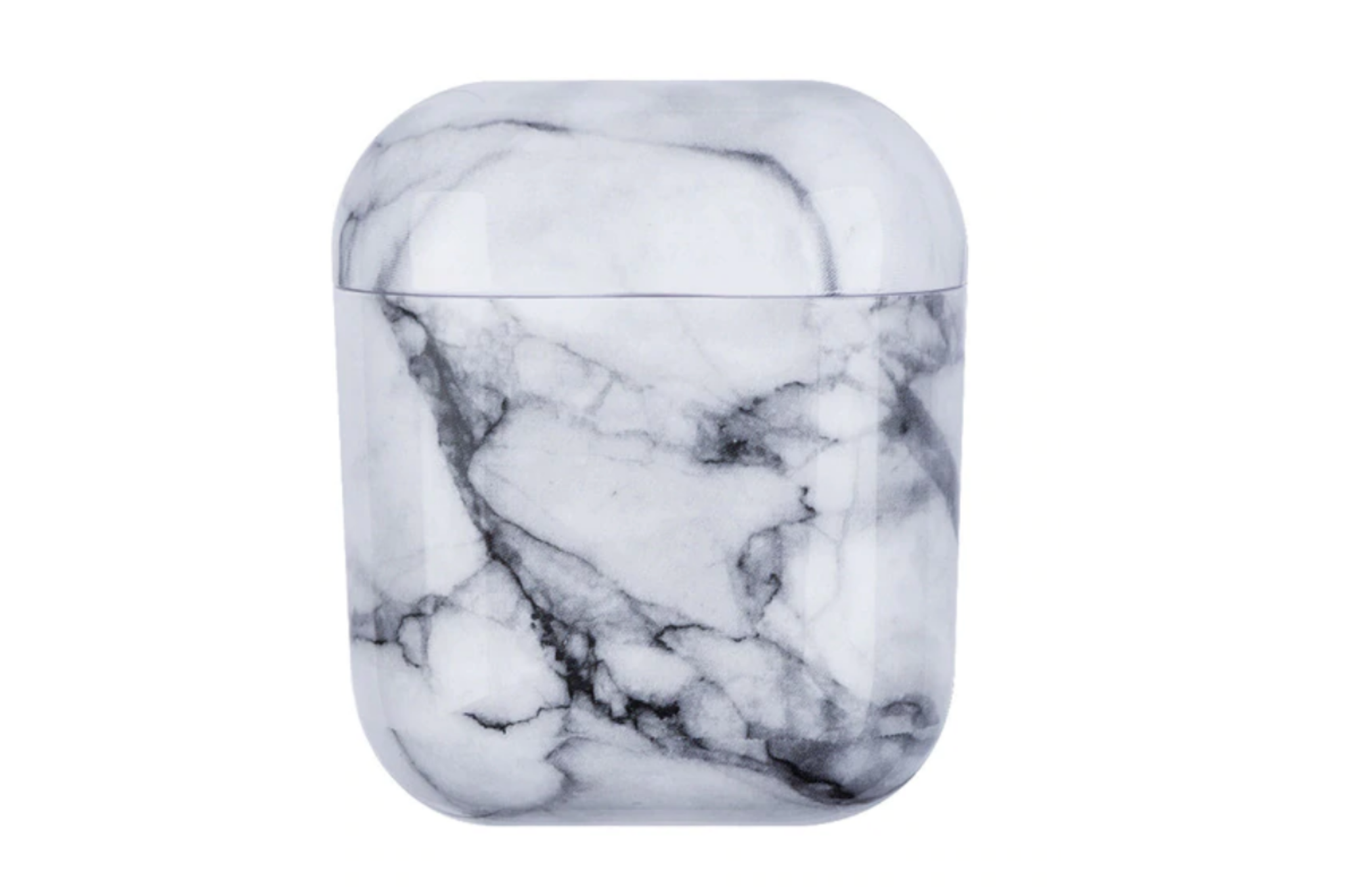 AirPods hoesje / case | Marmerlook zwart/wit