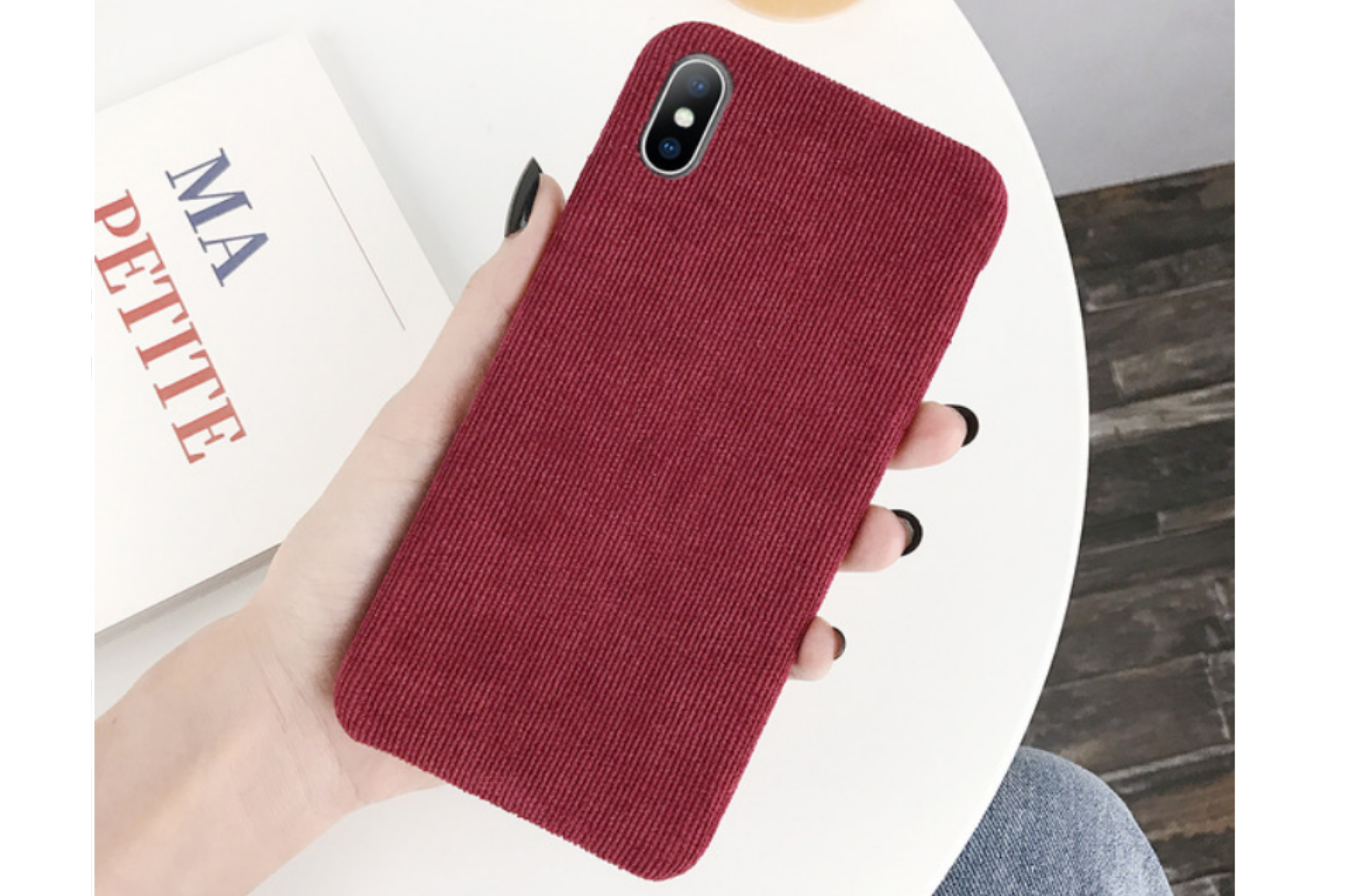 Ribstof telefoonhoesje iPhone 6s | Rood