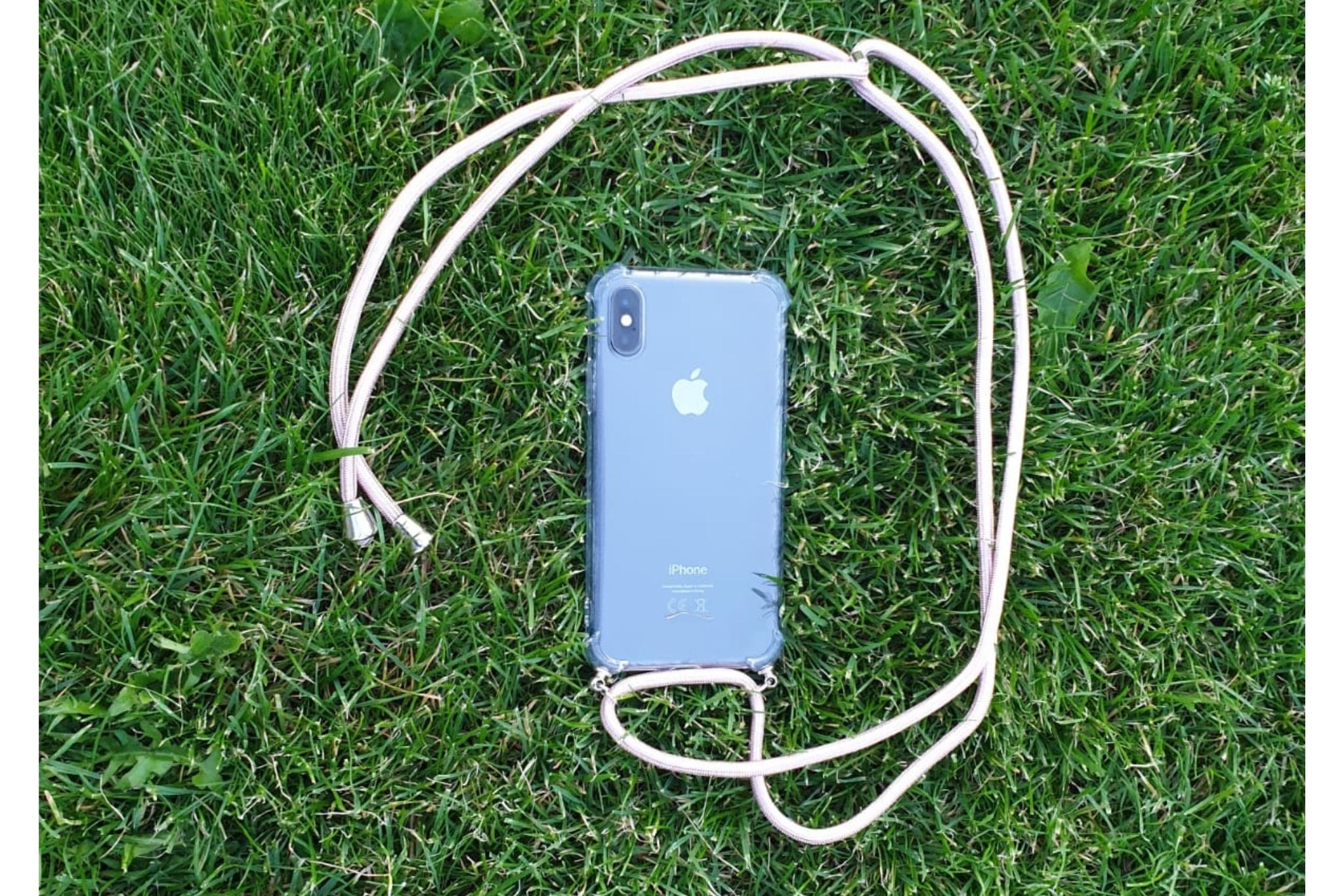 Transparant hoesje iPhone 11 Pro | Incl. roze koord