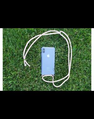 Transparant hoesje iPhone X / XS | Incl. roze koord