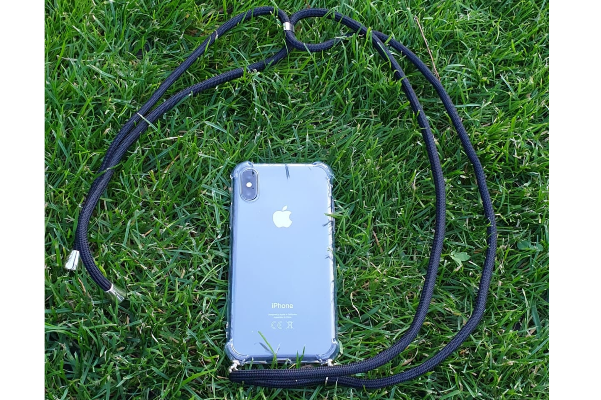 Transparant hoesje iPhone 11 Pro Max | Incl. zwart koord