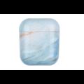 AirPods hoesje / case | Marmerlook blauw/roze