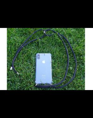 Transparant hoesje iPhone X / XS | Incl. zwart koord