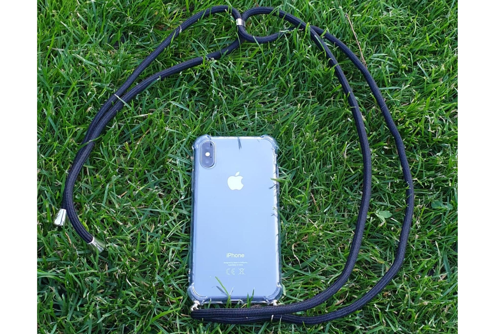 Transparant hoesje iPhone X / XS   Incl. zwart koord