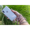 Transparant hoesje iPhone 12 Pro Max | Incl. Roze + bruin koord