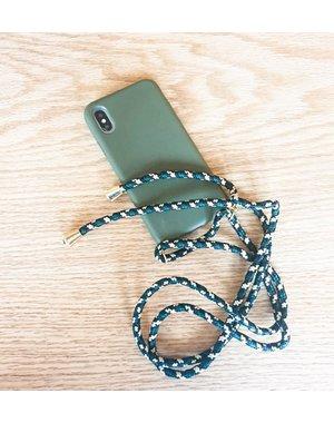 Smartphonehoesje iPhone 11   Mosgroen hoesje met koord