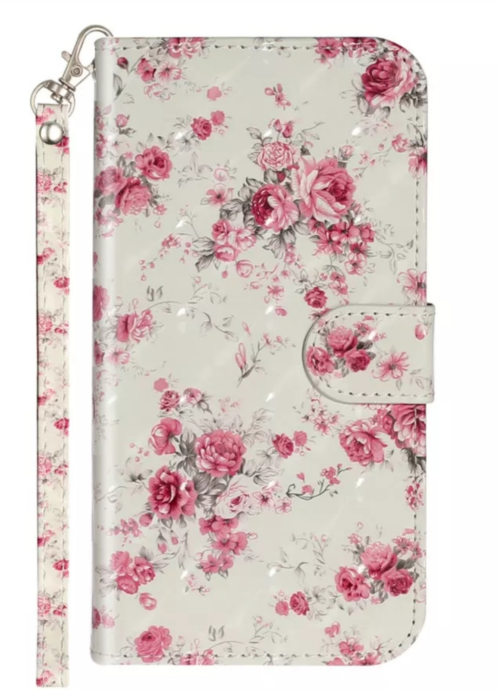 Smartphonehoesje Samsung A51   Portemonnee (flipcase)   bloemen