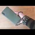 Smartphonehoesje iPhone XR   Mosgroen met koord