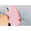 Smartphonehoesje iPhone 11 Pro Max   Zachtroze met koord