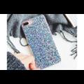 Smartphonehoesje iPhone XR | Blauwe glitters