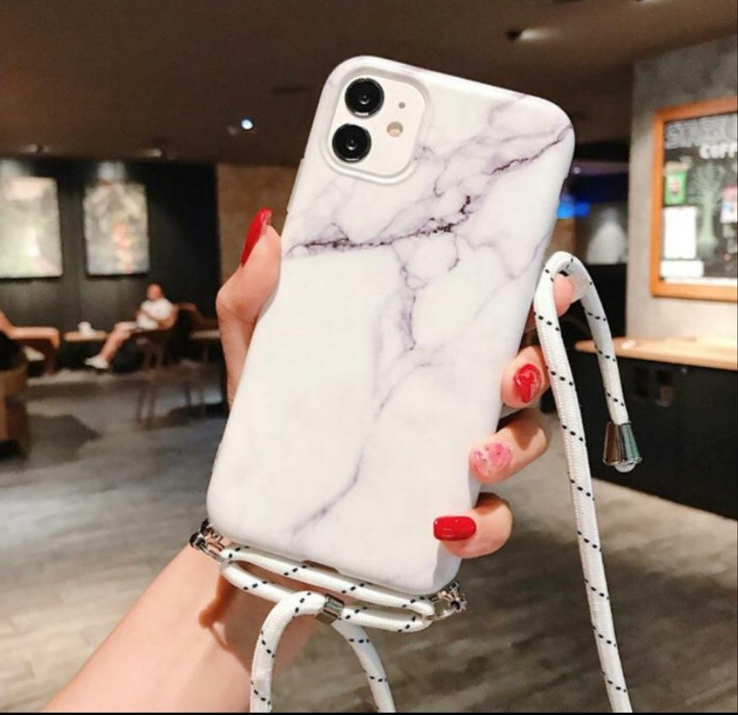 Marmerlook hoesje iPhone XR   Incl. koord