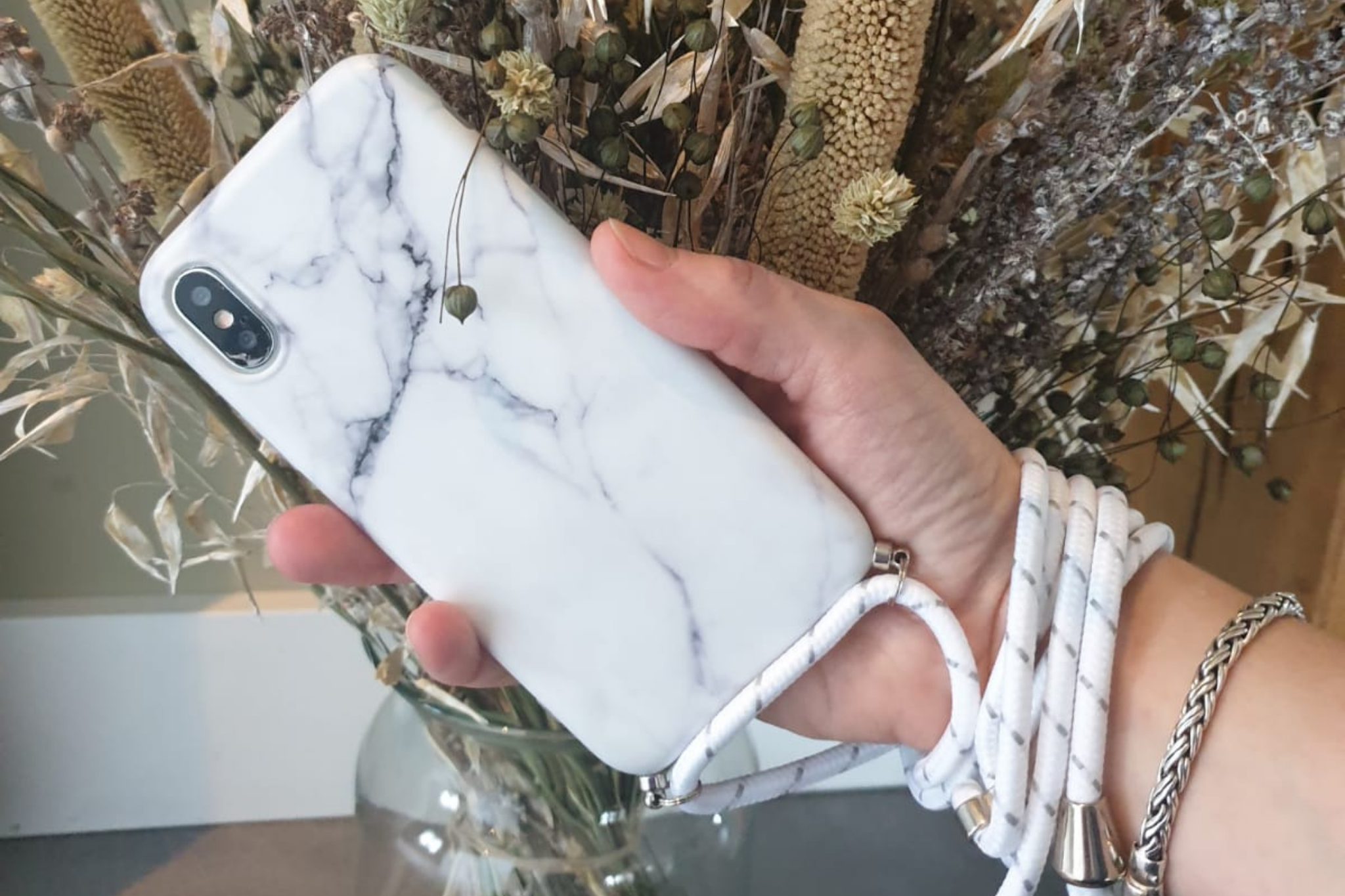 Marmerlook hoesje iPhone XR | Incl. koord