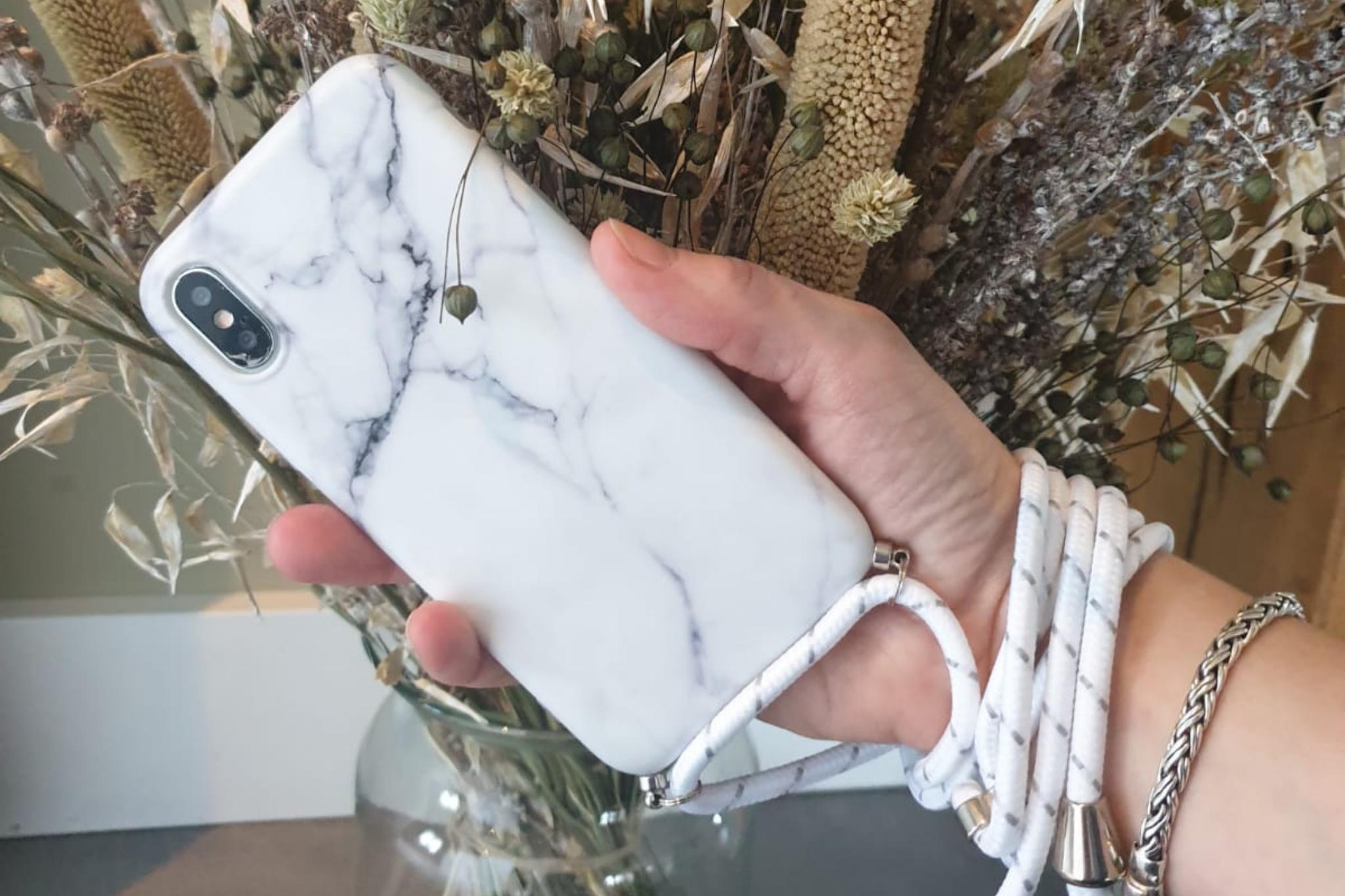 Marmerlook hoesje iPhone 11 | Incl. koord