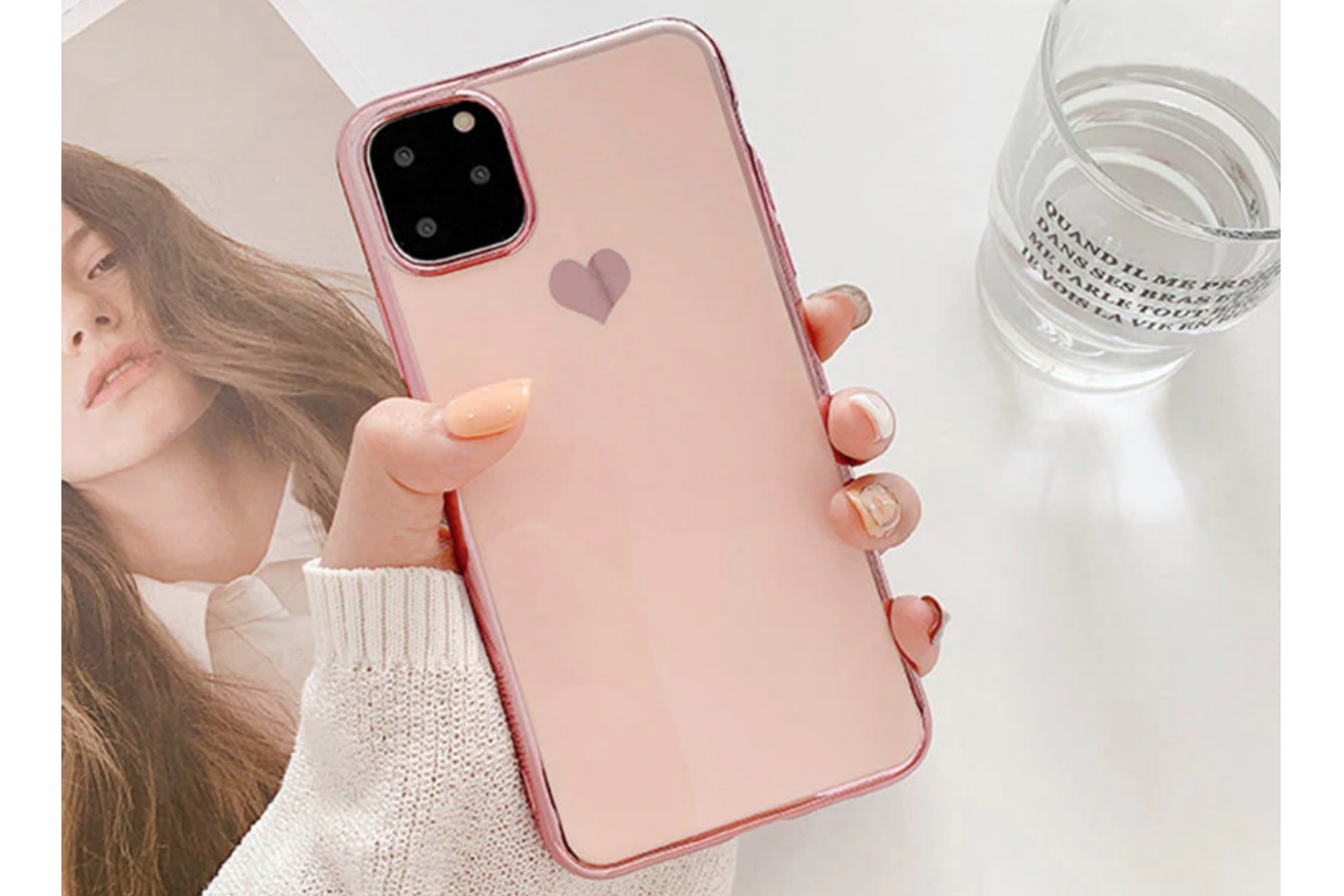 Smartphonehoesje iPhone 12 (Pro) | Poederroze