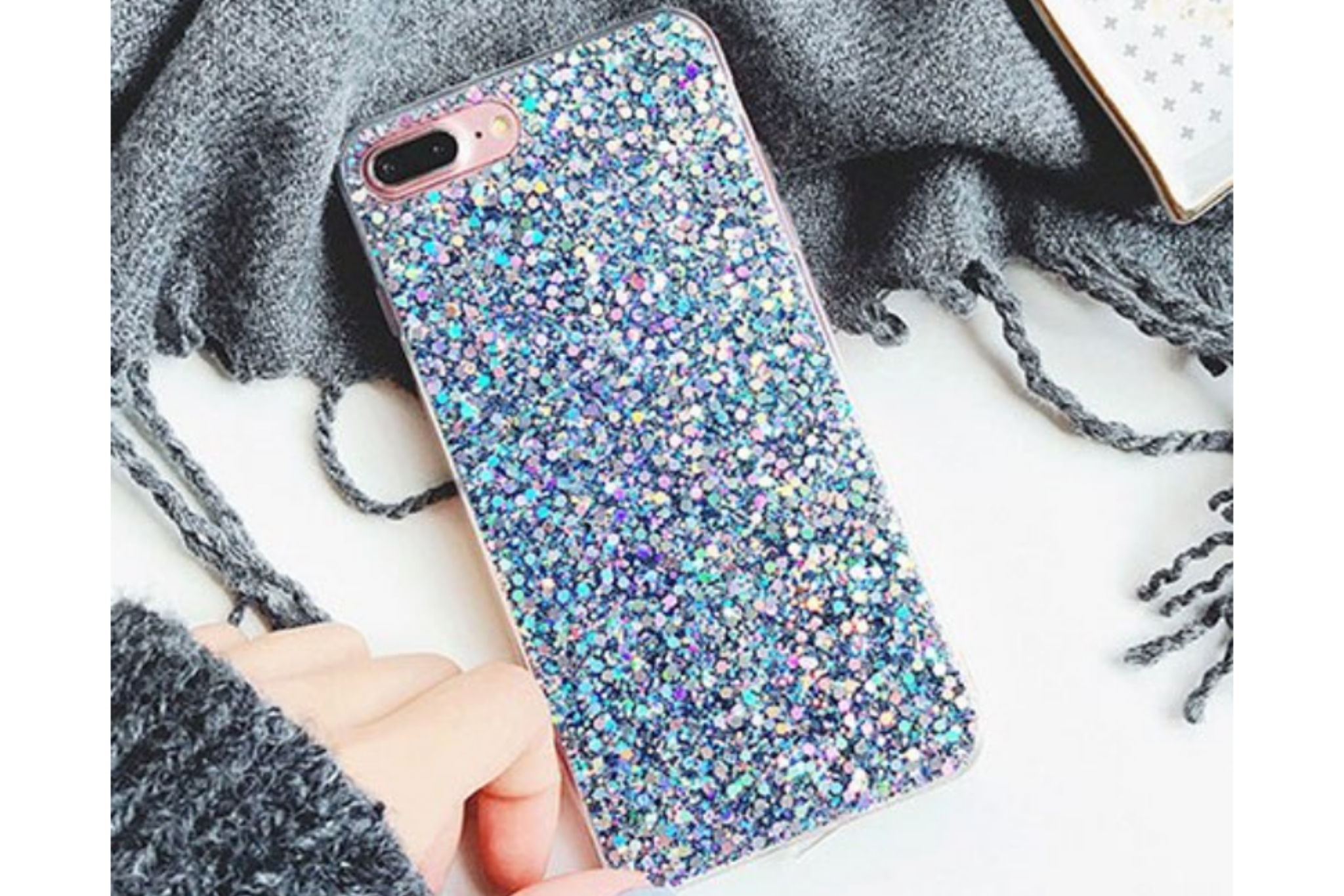 Smartphonehoesje iPhone 11  Pro | Blauwe glitters