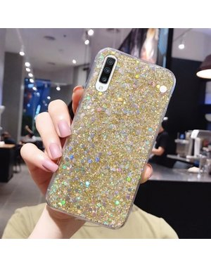 Smartphonehoesje Samsung S20 FE   Bling met glitters   goud