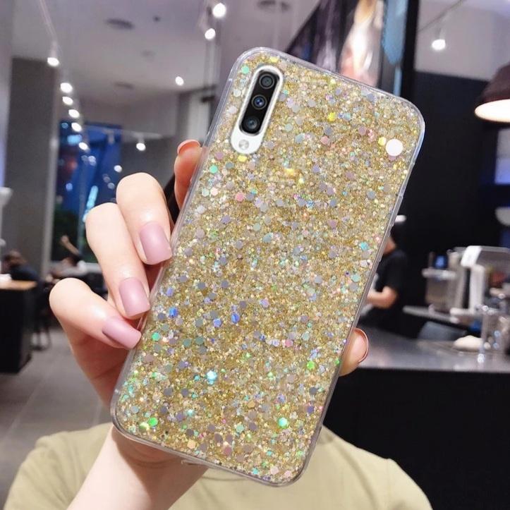 Smartphonehoesje Samsung S20 FE | Bling met goud glitters