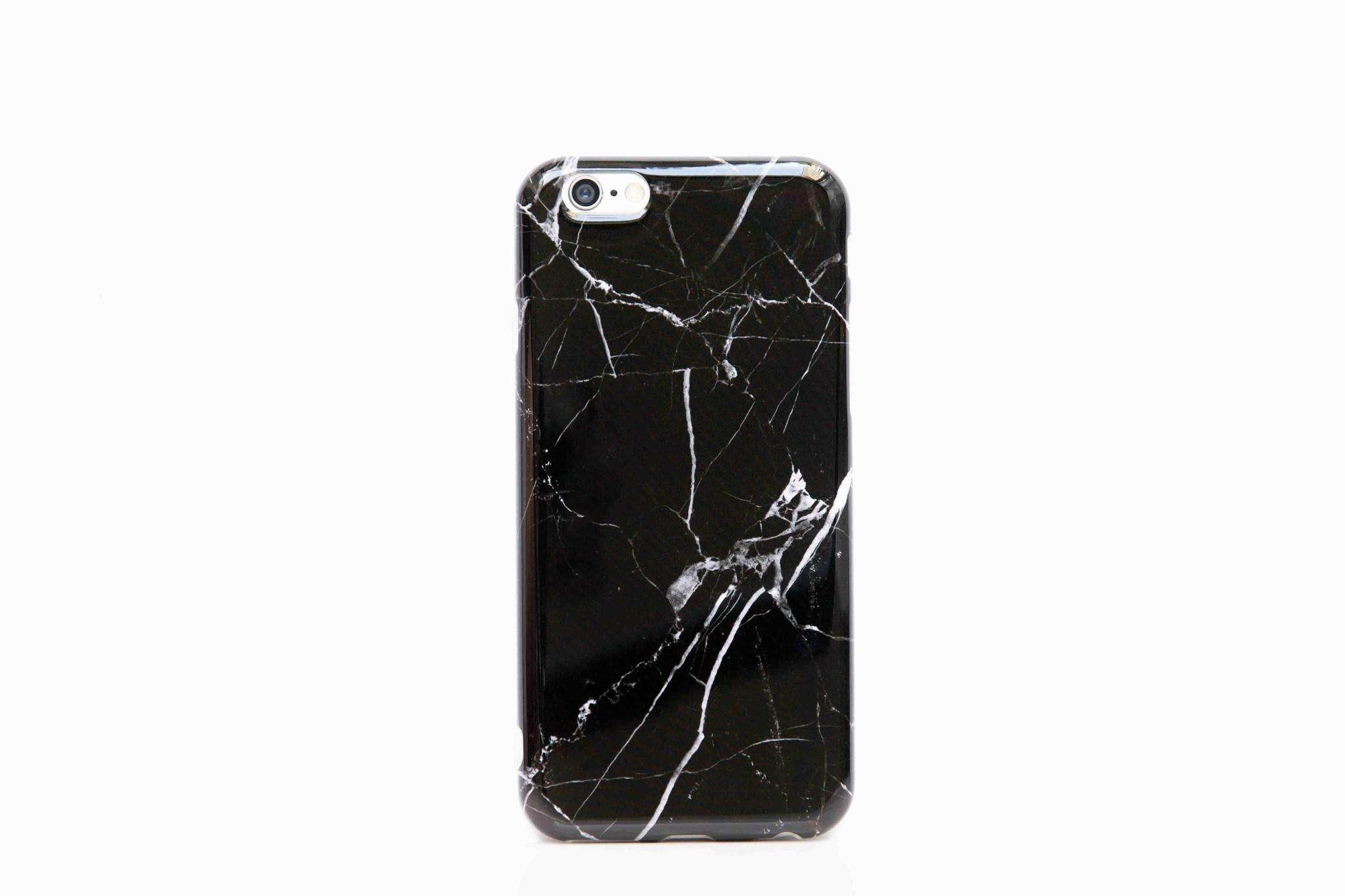 Smartphonehoesje Samsung A71 | Marmerlook | Zwart