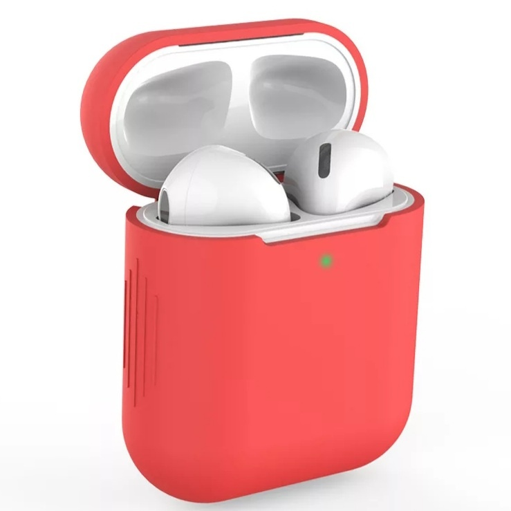 AirPods hoesje / case | Effen |Siliconen | Rood