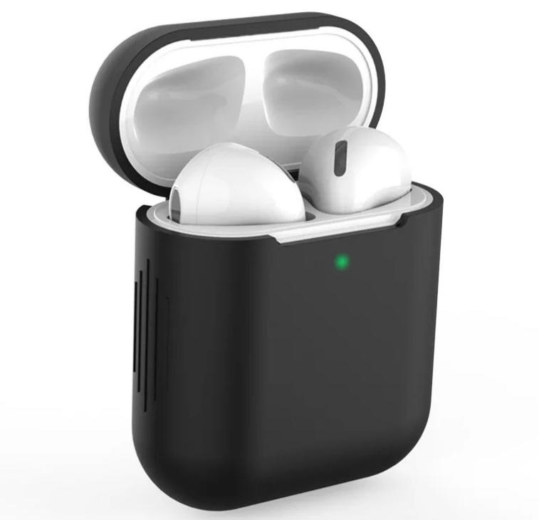 AirPods hoesje / case | Effen |Siliconen | Zwart