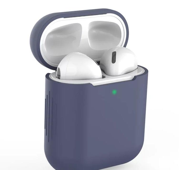 AirPods hoesje / case | Effen |Siliconen | Grijs