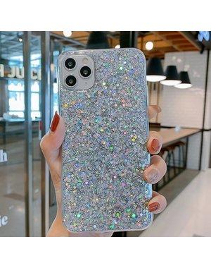 Smartphonehoesje iPhone 12 (Pro)   Met zilveren glitters
