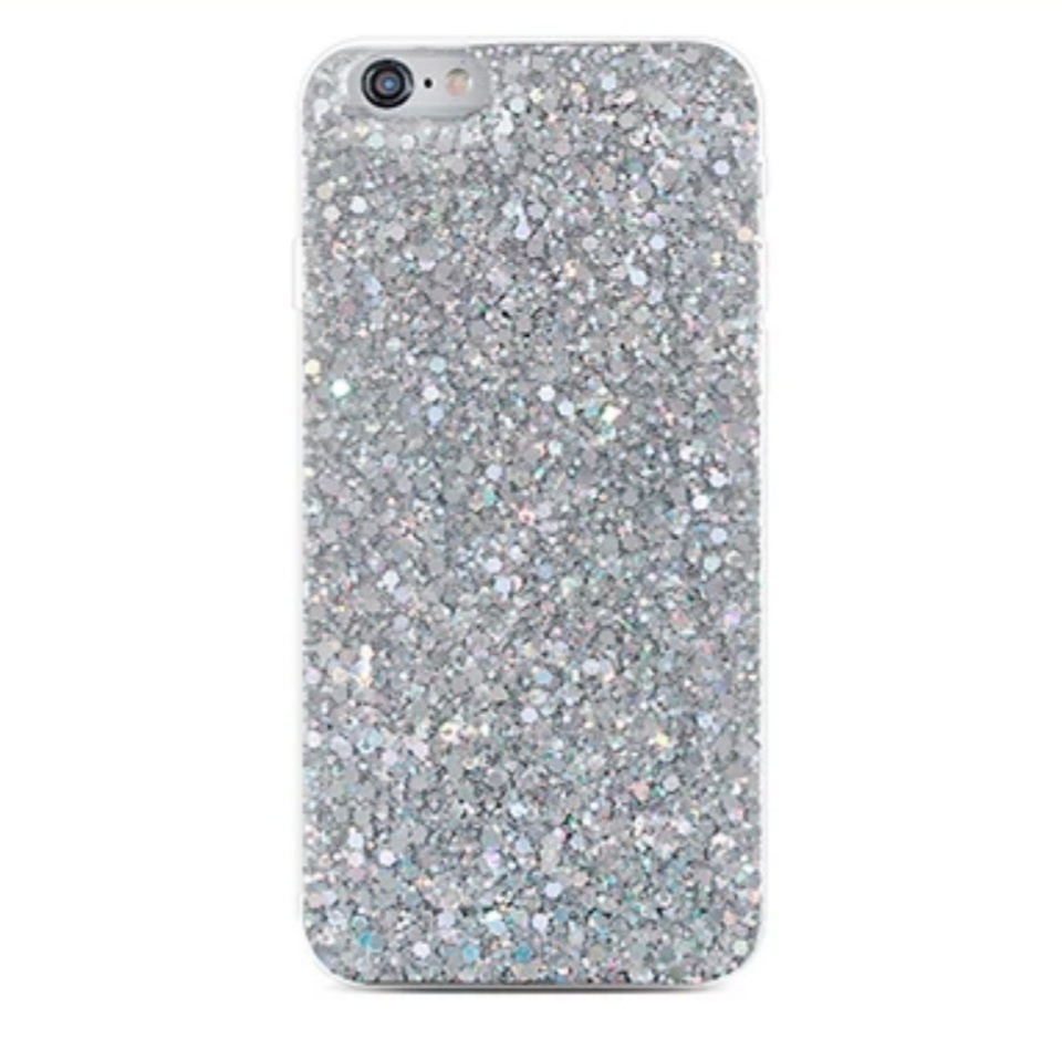 Smartphonehoesje iPhone 12 (Pro) | Met zilveren glitters