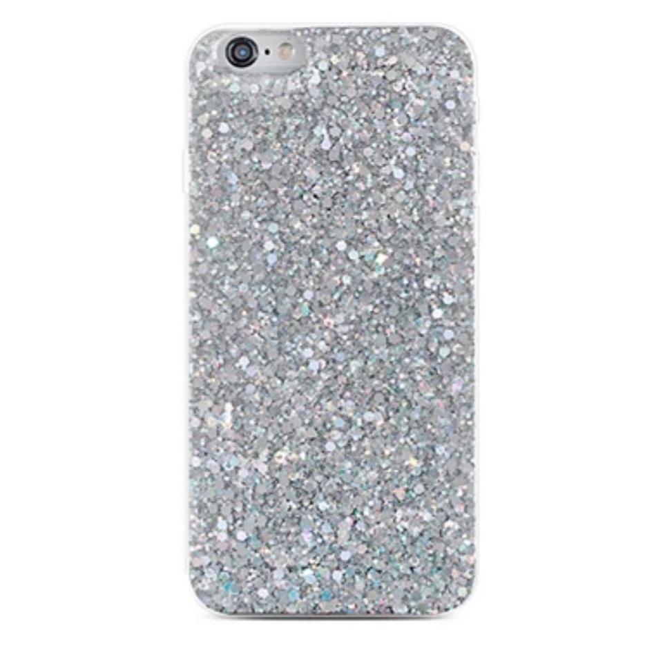 Smartphonehoesje iPhone XR | Met zilveren glitters