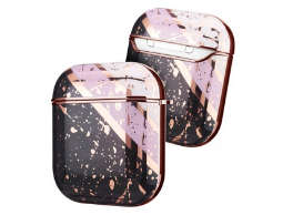 AirPods hoesje / case | Chique paars/goud