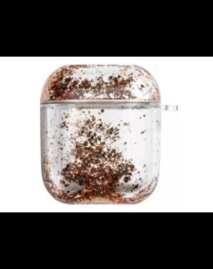 AirPods hoesje / case | Bewegende gouden glitters