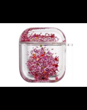 AirPods hoesje / case | Bewegende rode glitters