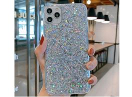 Smartphonehoesje iPhone 12 mini | Met zilveren glitters