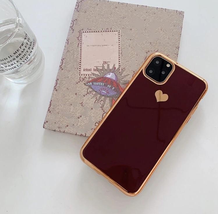 Smartphonehoesje iPhone 12 (Pro) | Bordeauxrood