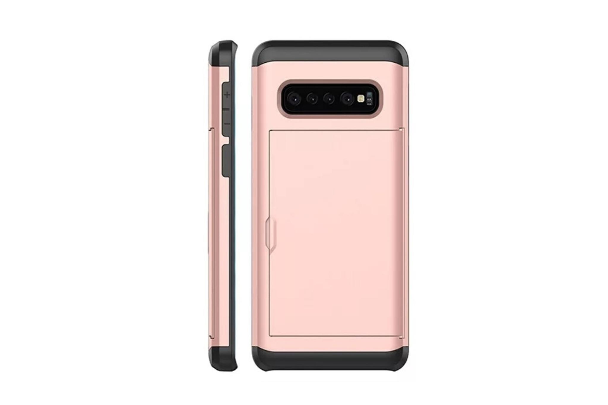 Smartphonehoesje Samsung S10   Plus   Pasjesschuif   Rose gold