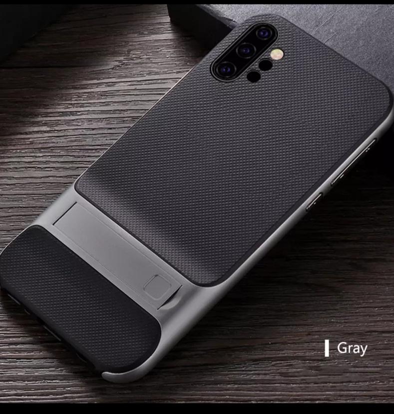 Smartphonehoesje Samsung Note 10 Zwart/Grijs