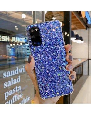 Smartphonehoesje Samsung A71 | Blauwe glitters