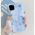 Smartphonehoesje iPhone 11 | Marmerlook | Blauw