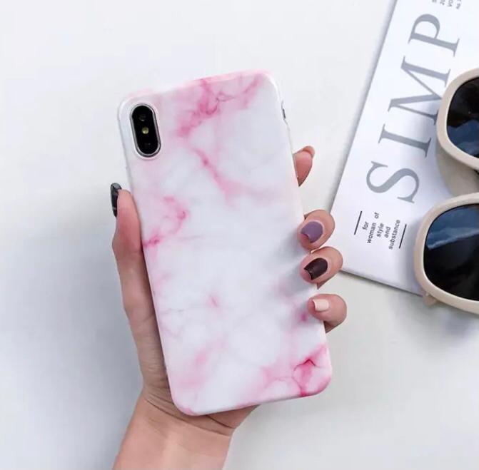 Smartphonehoesje iPhone 7/8 | Marmerlook | Roze