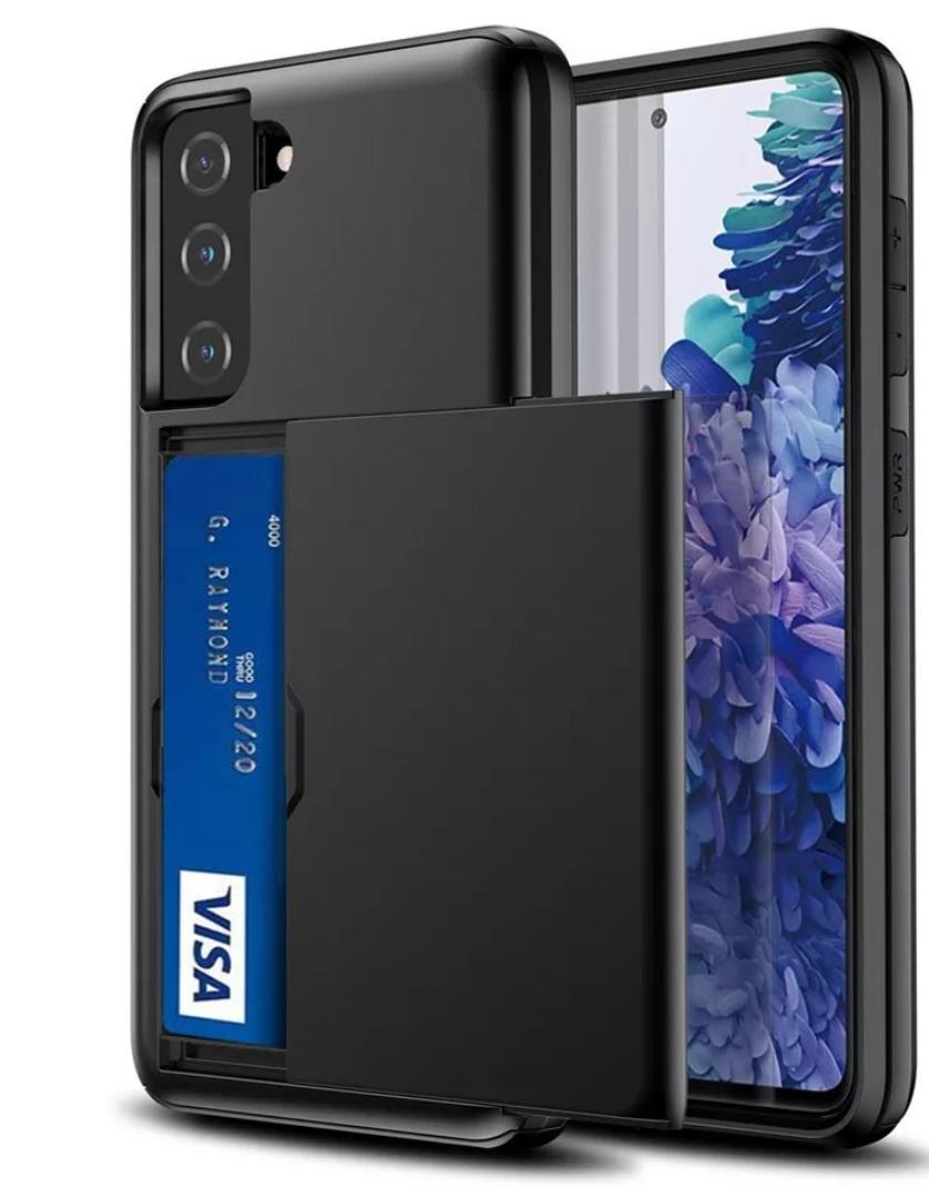 Smartphonehoesje Samsung S20 Plus   Pasjesschuif   Zwart