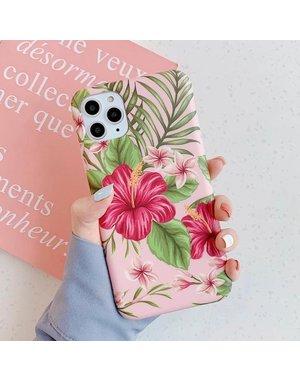 Smartphonehoesje iPhone X   iPhone XS   Summervibes   Roze