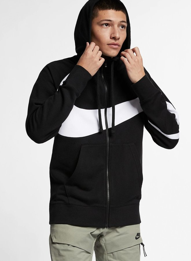 Sweater hoodie with zipper for men