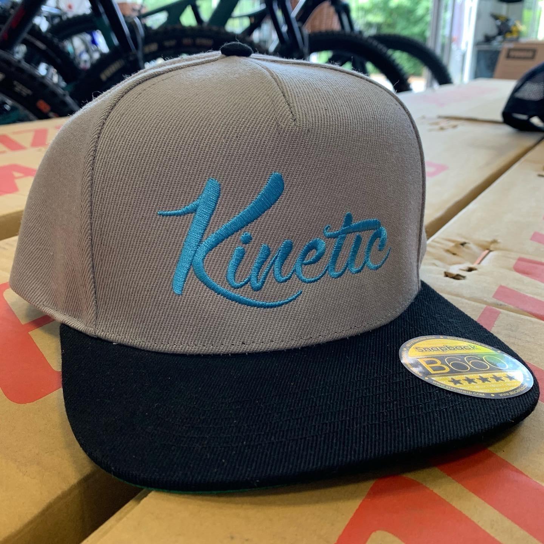 Kinetic Cycles Kinetic Cycles Cap - Grey / Turq Logo