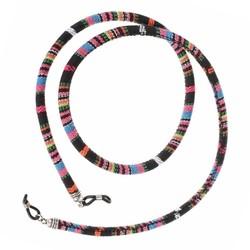 Fako Bijoux® - Brillenkoord - Bohemian - 6mm - 75cm - Zwart
