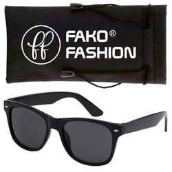 Fako Fashion® - Zonnebril - Wayfarer - Classic - Zwart
