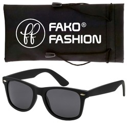 Fako Fashion® - Zonnebril - Wayfarer - Classic - Mat Zwart