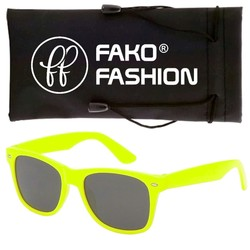 Fako Fashion® - Zonnebril - Wayfarer - Classic - Fluo Geel