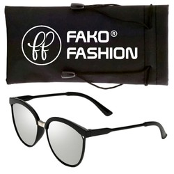 Fako Fashion® - Zonnebril - Clubmaster - Spiegel Zilver