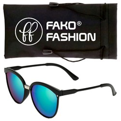 Fako Fashion® - Zonnebril - Clubmaster - Spiegel Groen